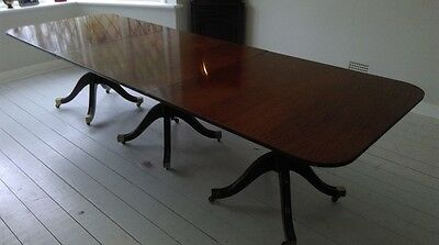 10.9ft GRAND GEORGE III CUBAN MAHOGANY TABLE PRO FRENCH POLISHED