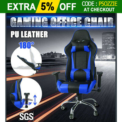 OZ Executive Gaming Office Racing Chair Computer High Back PU Leather Work Seat