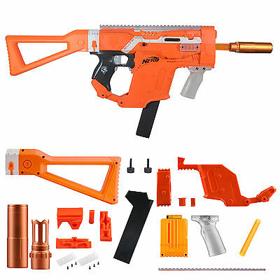 Worker Mod Kriss Vector Kits Combo 12 Items for Nerf STRYFE Toy Color Orange