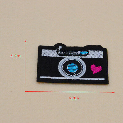 Retro NinetiesCard Film digital cameras  Embroidery patches Iron on sew Applique