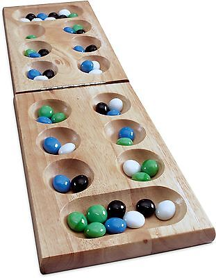 Wood Folding Mancala in Cardboard Sleeve New Free Shipping