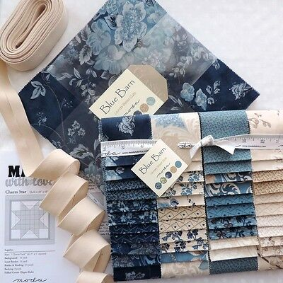 QUILT MODA Blue Barn Layer Cake & Jelly Roll + FREE 7m Bias Binding
