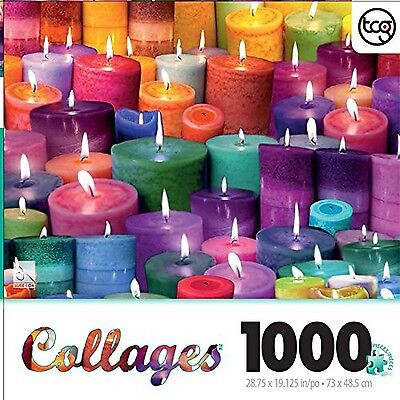 Alix Mullins Candles Collage 1000 Piece Jigsaw Puzzle New Free Shipping