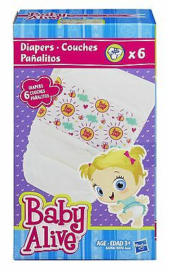 Baby Alive Diapers Accessory 6 Pack New Free Shipping