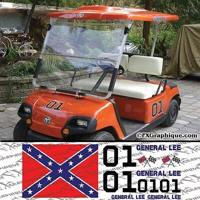 General Lee Duke Of Hazzard Golf Cart Decals Kit