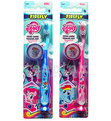 My Little Pony Toothbrush With Travel Cap & Suction Cup Kids Children Oral Care