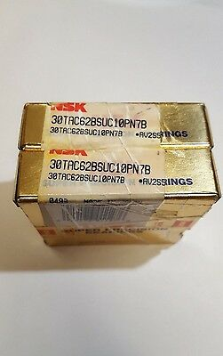 2 Pcs. NSK 30TAC62BSUC10PN7B *AV2S5 SUPER PRECISION BEARINGS ***NEW IN BOX***