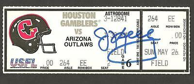 Jim Kelly Ip Auto Signed Usfl Ticket Houston Gamblers Vs. Outlaw !