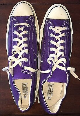 Converse Chuck Taylor All Star Vintage Blue Label, Made In USA, Purple, Size 17