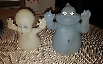 PIZZA HUT 1995 CASPER THE FRIENDLY GHOST HAND PUPPETS - Lot OF 2  Casper Fatso