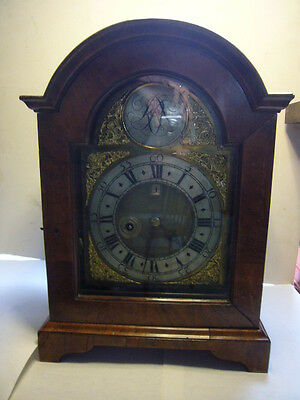 Early Eighteenth Century Irish? Walnut Bracket Clock