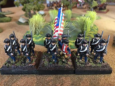 28mm American War of Independence Hinchliffe Rebels with hunting shirts