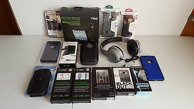 Lot of Cell Phone/Tablet Accessories Cases Chargers Headphones Earbuds - iPhone