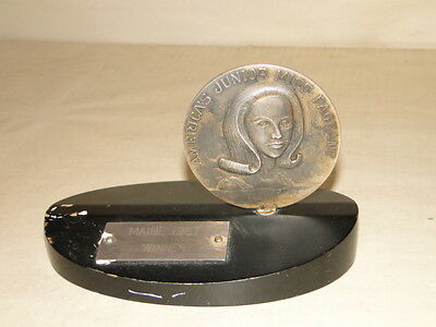 Balfour America's Junior Miss Pageant Trophy Maine 1967 Winner Chevy symbol N.R.