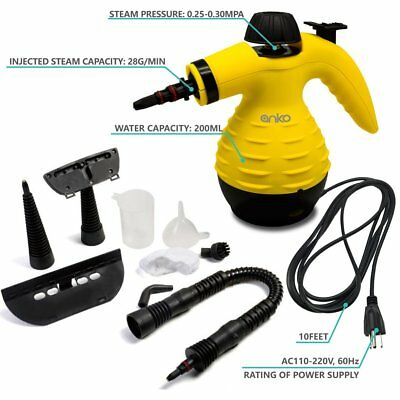 Pressurized Steam Cleaner Stain Removal Wallpaper Removal Bed Bug Car Seats NEW