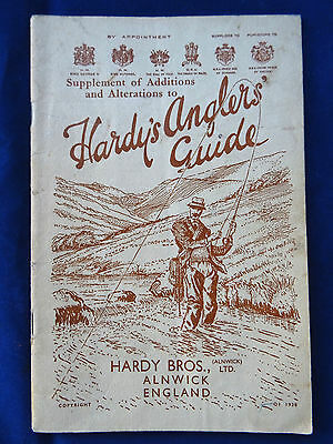 Rare Vintage Hardy's Supplement Of Additions Advertising Fishing Catalogue 1938