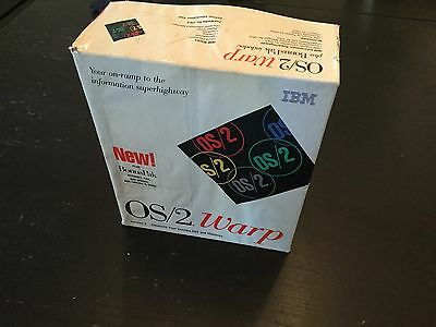 Vintage iBM OS/2 Warp Complete With All Documentation. Free Shipping