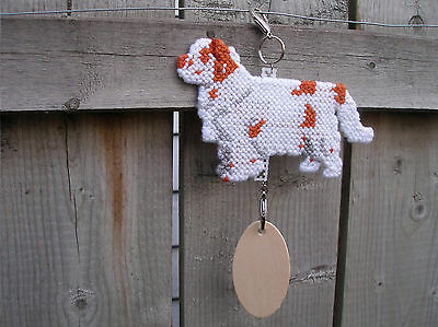 CLUMBER SPANIEL w/full Tail Dog crate tag or hang anywhere pet art ornament