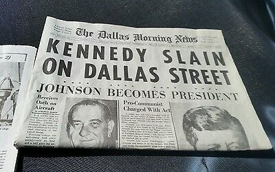 COMPLETE Dallas Morning News Newspaper 11/23/63 JFK Kennedy Assassination-Reprnt