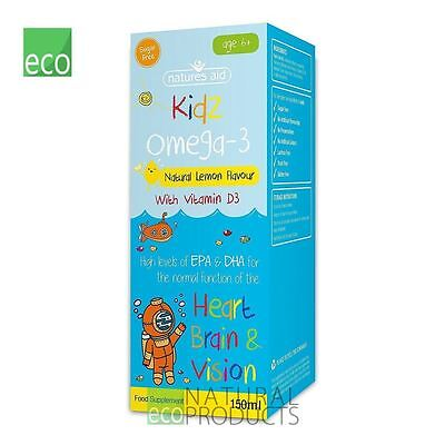 Natures Aid Kidz Omega-3 with Vitamin D3 Heart, Brain & Vision 150ml