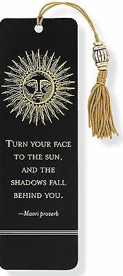 Sun Beaded Reading Bookmark with Inspirational Quote Fun Cheap Gift Books Book