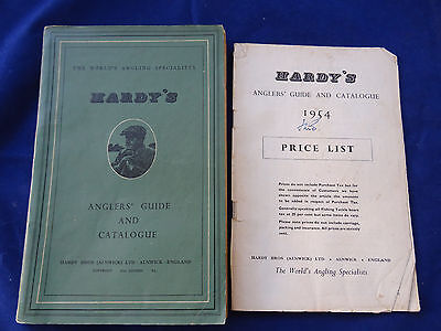 Vintage Hardy Advertising Fishing Catalogue Anglers Guide For 1954 + Price List