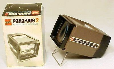 Gaf Pana Vue 2 Lighted Slide Veiwer Vintage In Box Works Great