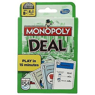Monopoly Deal Card Game New Free Shipping