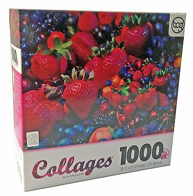 Alix Mullins Mixed Berries Collage 1000 Piece Jigsaw Puzzle New Free Shipping
