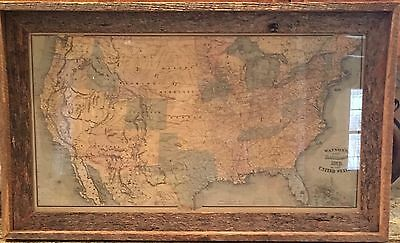 Vintage 1875 Gaylord Watson Map Of The United States