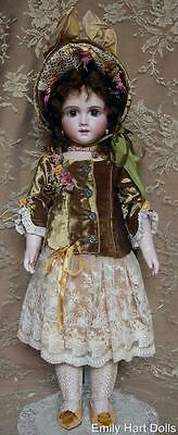 A12T Porcelain doll Silk Velvet & Antique laces costume
