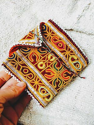 Vintage Kuchi Tribal Wallet Beaded and Embroidered