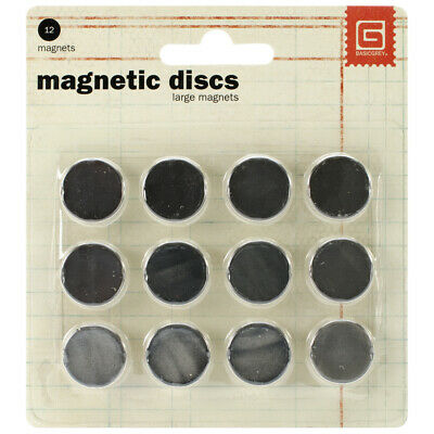 "Basic Grey MET522 Magnetic Discs .625"" 12/Pkg-1/32"" Thick (2Pk)"