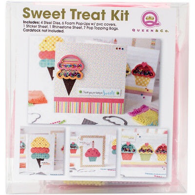 Queen & Co  Shaker Kit For Cards-Sweet Treat Ice Cream Cone & Cupcake