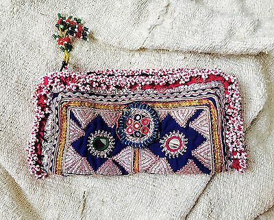 Vintage Kuchi Tribal Wallet / Clutch/ Glasses Case. Beaded and Embroidered