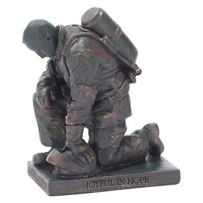 "Firefighter Figurine Statue - Called to Prayer - Romans 12:12 - 4 5/8"" Tall"
