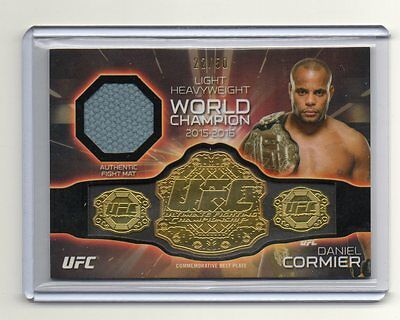 2016 Topps UFC Knockout Belt Plate UFC 187 Used Mat Relic Daniel Cormier 22/50