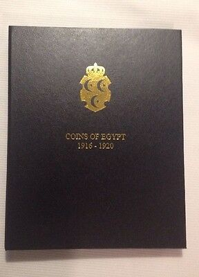 Sultan Hussein Kamel & Fuad 1916-1920 Egypt Coin Album Coins Included