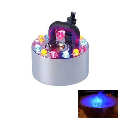 Mist Maker Ultrasonic Fog Mister Moisture Hydroponics Fountain Pond Machine LED
