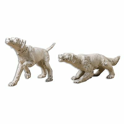 Uttermost Set of 2 Hudson and Penny Dog Sculptures 19920