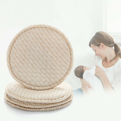 4Pcs Mom Baby Feeding Breast Maternity Nursing Pad Washable Leakproof Reusable