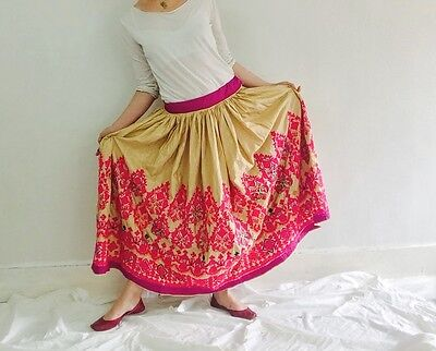 Vintage Rabari Long Embroidered Skirt. Tribal. Hand Embroidered. Banjara Kuchi.