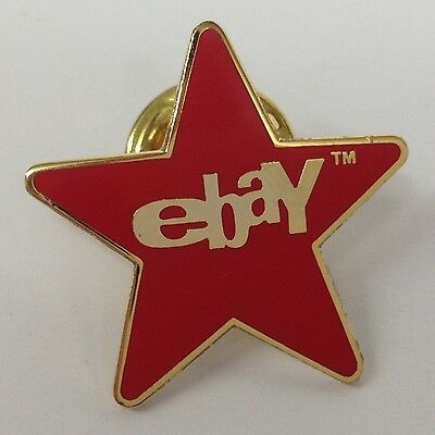 Lot of 45 eBay Red Star Lapel Pins - Old Logo