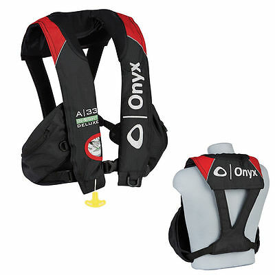 A-33 In-Sight Deluxe TOURNAMENT Automatic Inflatable Life Jacket Vest PFD - Red