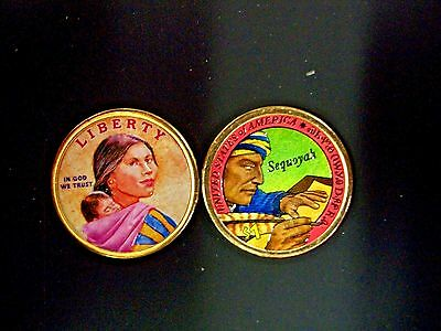2017 Native American Dollar Colorized on Both Sides
