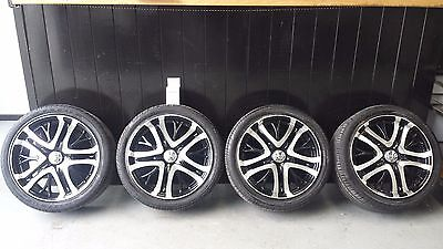 """Holden Commodore 4 X 18"""" Incubus Alloy Rims Wheels & Tyres Suit Ve & Pre Ve"""