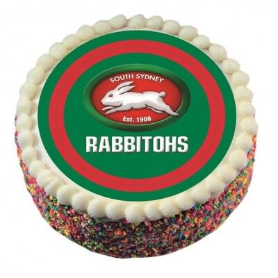Sth Sydney Rabbitohs Edible Icing Cake Topper NRL Birthday Party