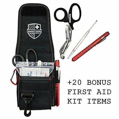 Medical EMT Shears/Scissors, Pupil Light, Tweezers with Tactical First Responder