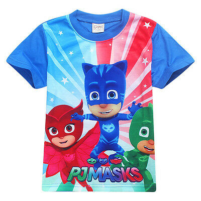 PJ Masks T-Shirt Kids Clothing Boys Girls Summer Short Sleeve Tops Short Sleeve