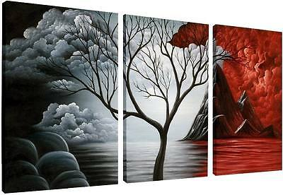 Abstract Canvas Print Photo Painting Pictures Wall Art Home Decor Trees Framed